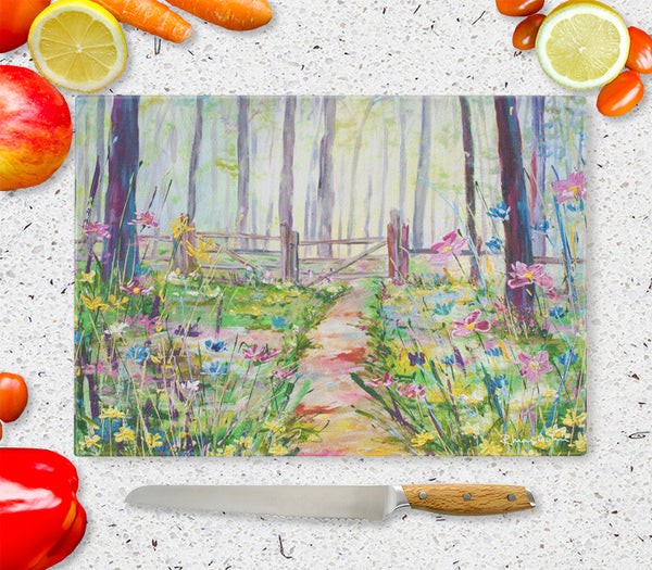 Glass Chopping Board of 'Glade'