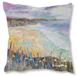 Faux Suede Art Cushion - Gentle Waves