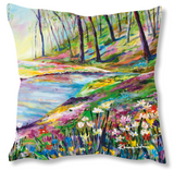 Faux Suede Art Cushion - River