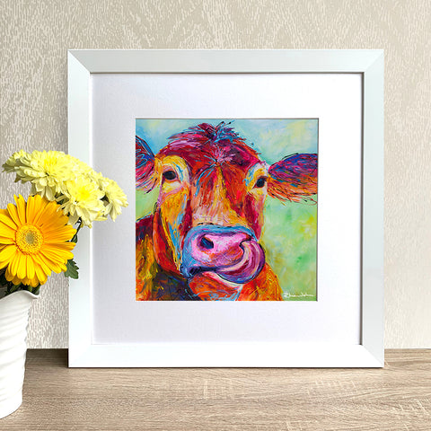 Framed Print - Jersey Cow