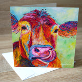 'Jersey Cow' blank greetings card