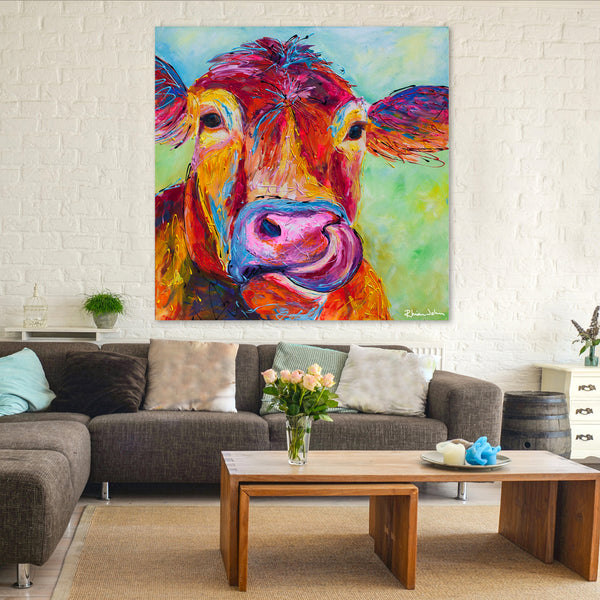 Canvas Print of 'Jersey Cow'
