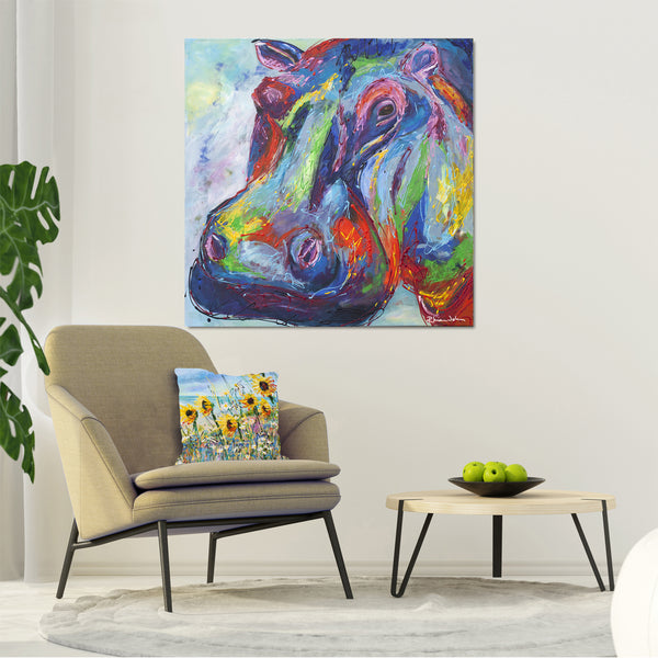 Canvas Print of 'Hippo'