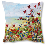 Faux Suede Art Cushion - Serenity