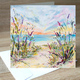 'In The Breeze' blank greetings card