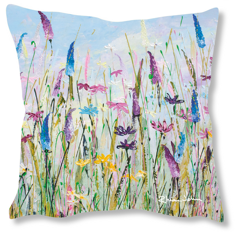 Faux Suede Art Cushion - My Meadow