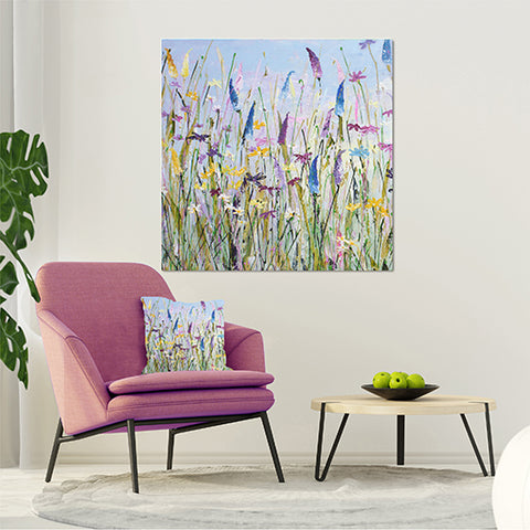 Canvas Print of 'My Meadow' Square