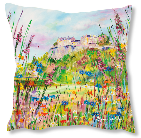 Faux Suede Art Cushion - Stirling Castle