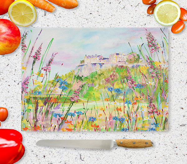 Glass Chopping Board of 'Stirling Castle'