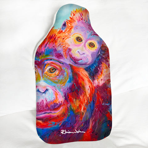 Hot Water Bottle - Orangutans