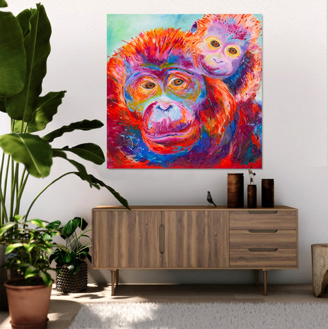 Canvas Print of Orangutans
