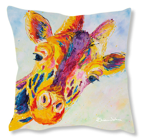 Faux Suede Art Cushion - Lofty Giraffe