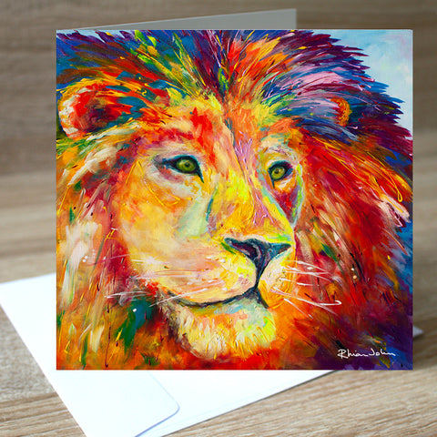 'Lion Pride' blank greetings card