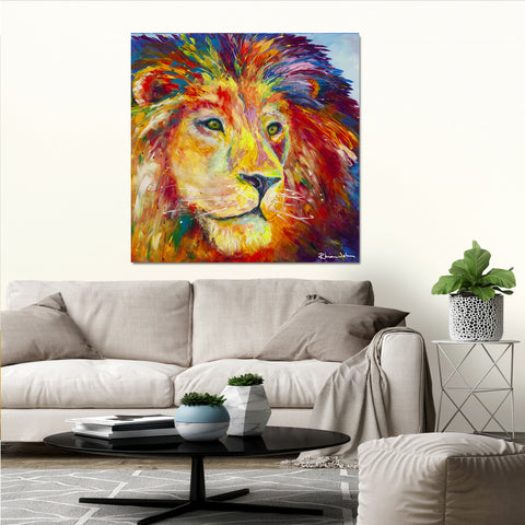Canvas Print of Lion Pride