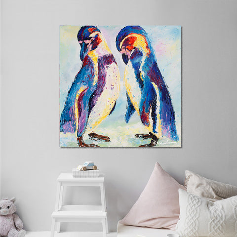 Canvas Print of 'Penguins'