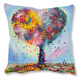 Faux Suede Art Cushion - With love