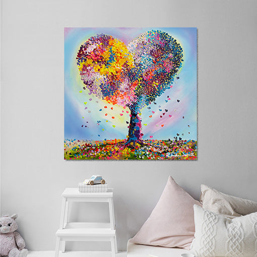 Canvas Print of With Love