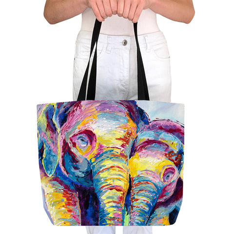 Tote Bag - Elephants Together