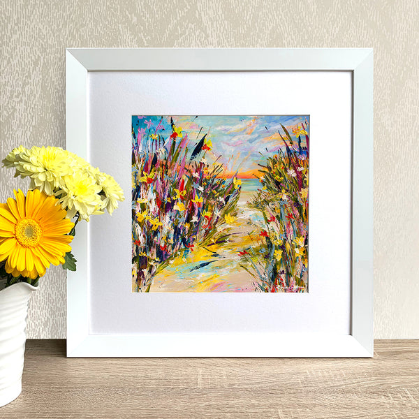 Framed Print - Sunset Daffodils