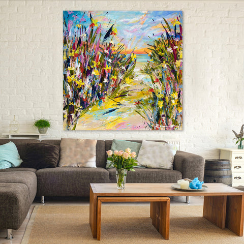 Canvas Print of 'Sunset Daffodils'