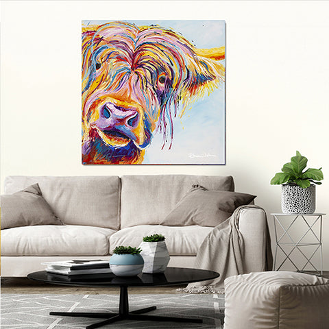 Canvas Print of Chater Highland Cow