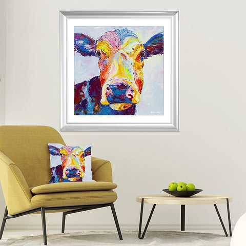 Print on Paper of Clover Cow