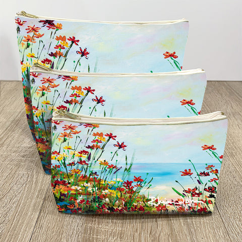 Wash / Makeup Bag of Beach Path