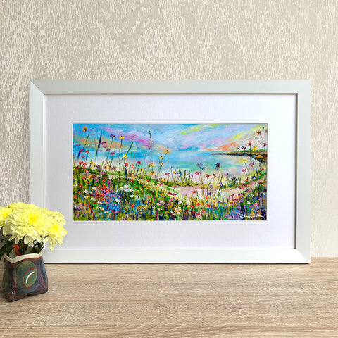 Framed Print - Coastal Path