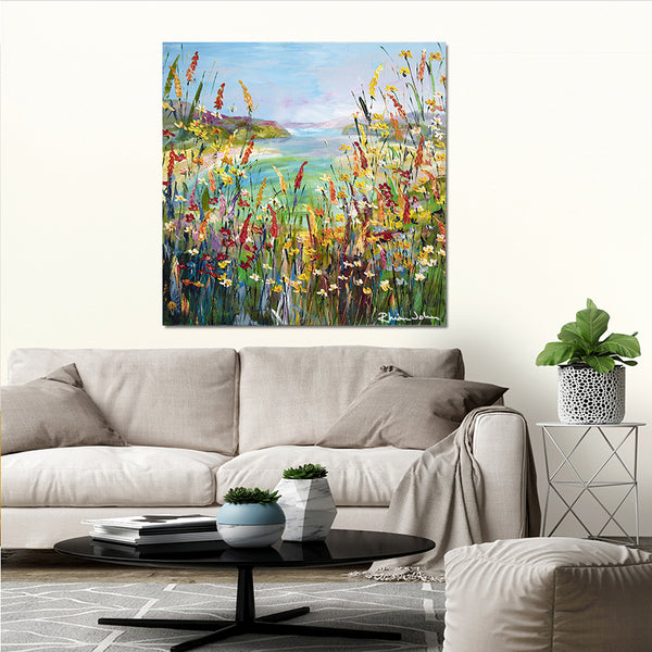 Canvas Print of Blue Lagoon
