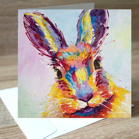 'Bella Bunny' blank greetings card