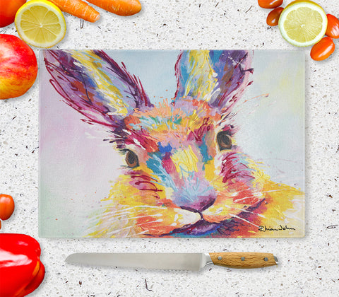 Glass Chopping Board of Bella Bunny Rabbit