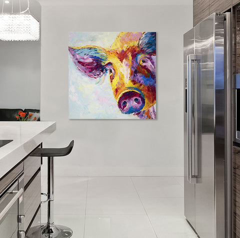 Canvas Print of Snuffles Pig