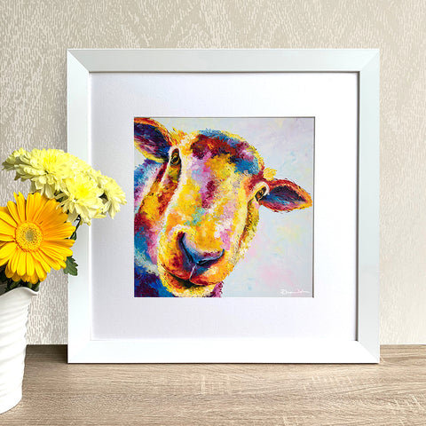 Framed Print - Baasil Sheep