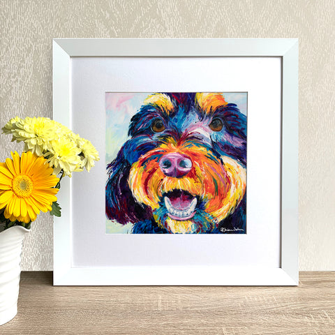 Framed Print - Rusty Dog