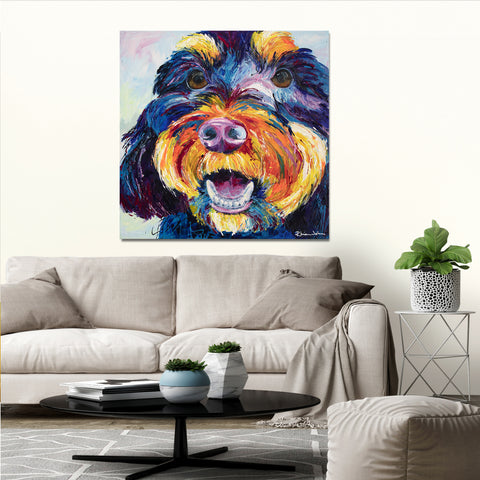 Canvas Print of 'Faithful Friend' Dog