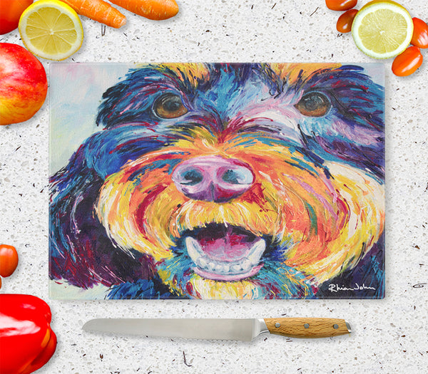 Glass Chopping Board of Faithful Friend Dog