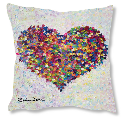 Faux Suede Art Cushion - Thinking of You