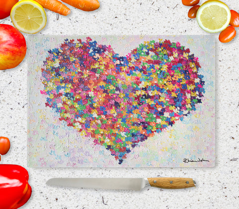 Glass Chopping Board of Thinking of You