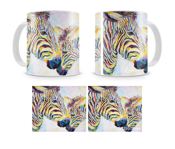 Mug of Two Zebras