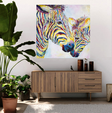 Canvas Print of 'Zebras'