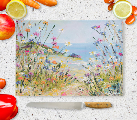 Glass Chopping Board of Holiday