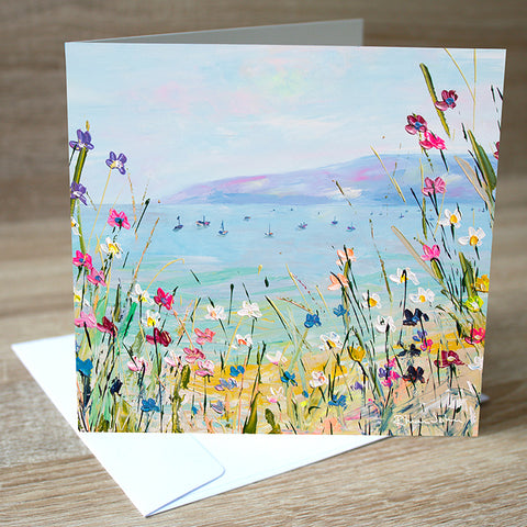 Sail Away blank greetings card