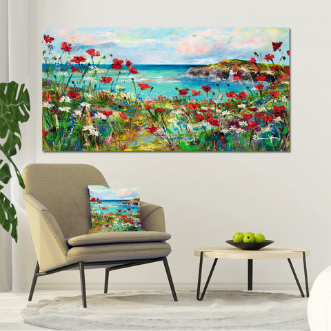 Canvas Print of Poppy Cove