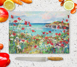Glass Chopping Board of Poppy Cove