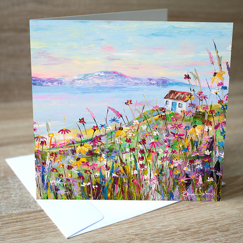 Coastal Retreat blank greetings card