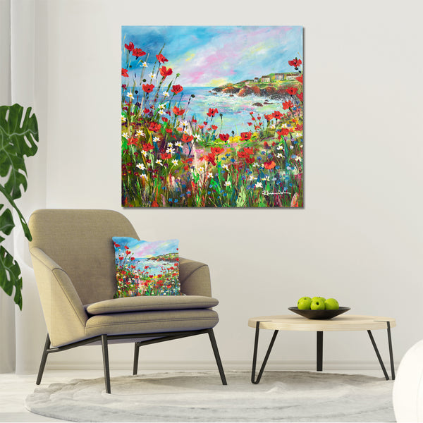 Canvas Print of Hilltop View