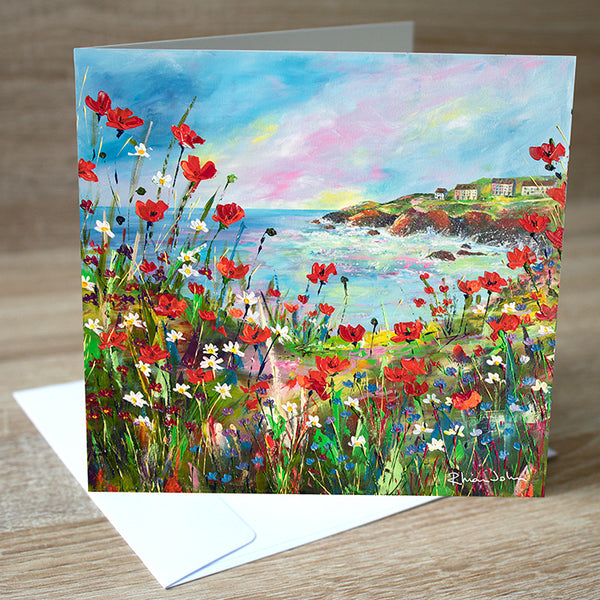 Hilltop View blank greetings card