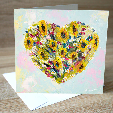 All My Love blank greetings card