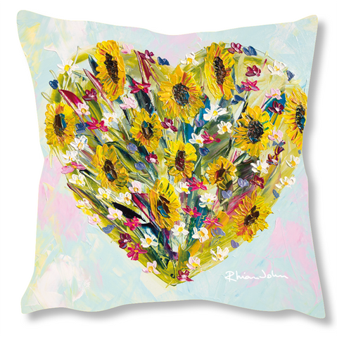 Faux Suede Art Cushion - All My Love