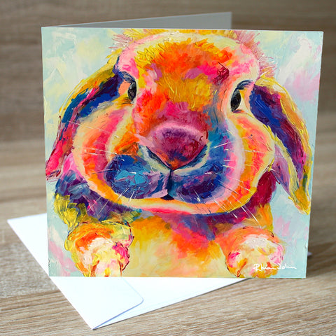Flopsy Bunny blank greetings card